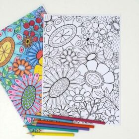 Bloom DIY printable Colouring Sheet