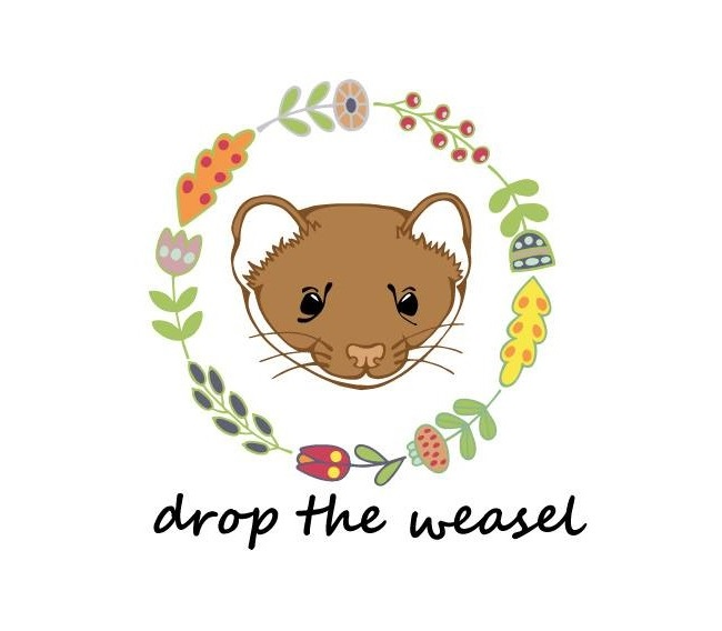drop the weasel logo