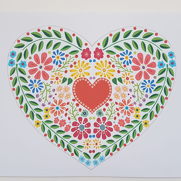 Folk Heart Close Up