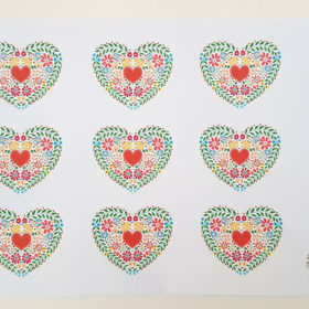 Lovely Mini Folk Heart Free Download