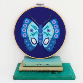 Blue Butterfly Hoop Kit