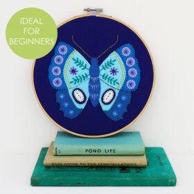 Blue Butterfly Hoop Kit - BEGINNERS TAG website