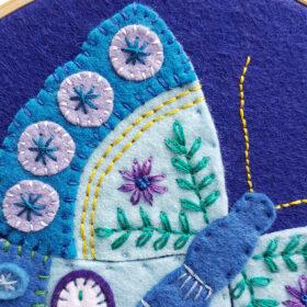Blue Butterfly Hoop Kit - detail website 2