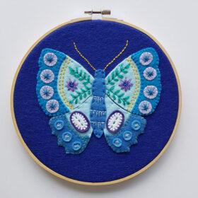 Blue Butterfly Hoop Kit - detail website 3