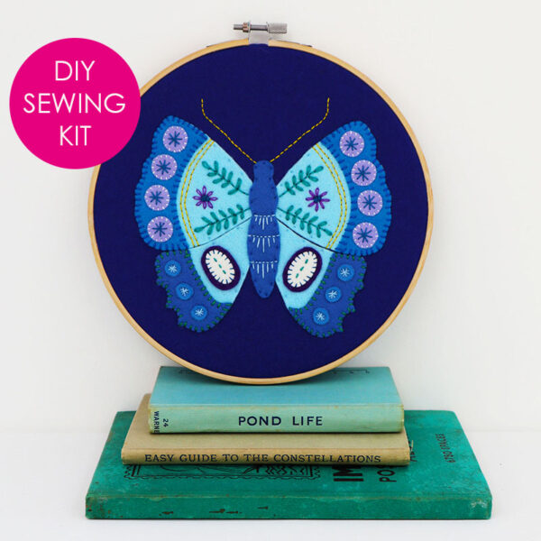 Blue Butterfly Hoop Kit - finished website with tag
