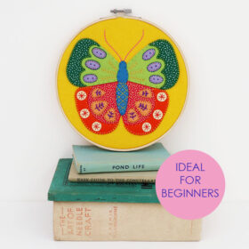 Summer Butterfly Hoop Kit - beginner tag website