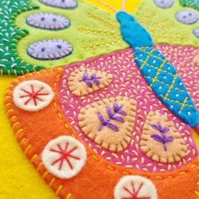 Summer Butterfly Hoop Kit - finished hoop - Website 2