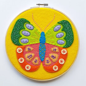 Summer Butterfly Hoop Kit - finished hoop - website 1