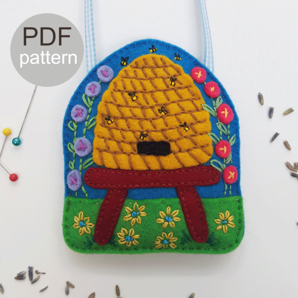 Bee-Hive-Lavender-Bag-PDF-Pattern