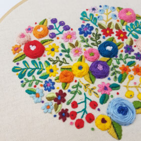 Love Grows Here -Stitch Detail designed by Drop the Weasel